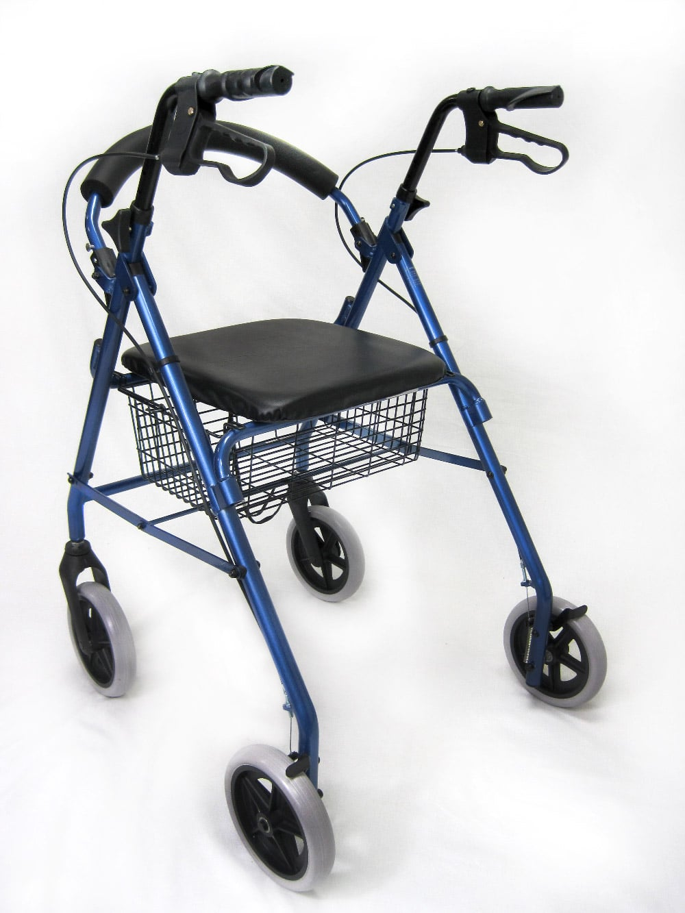 R-4608 Rollator Blue Back View