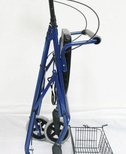 R-4700W Blue Rollator Side Folded