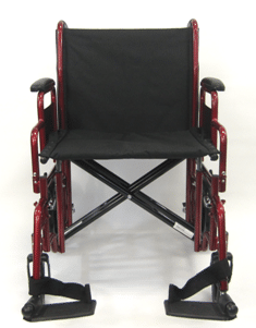 T-900 Front View Transport Wheelchair