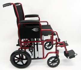 T-900 Side View Transport Wheelchair