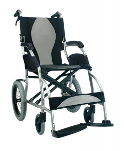 Ergo Lite Ergonomic Ultra Lightweight Transport Wheelchair