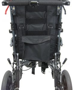 MVP-502 Transport wheelchair rear view
