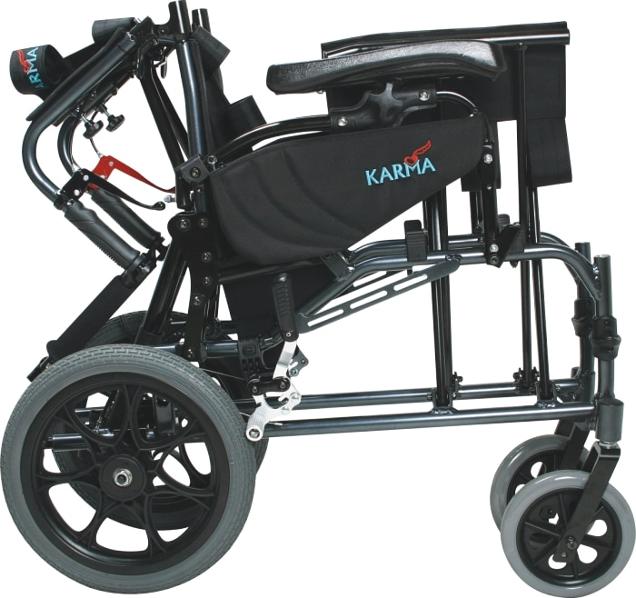 MVP-502 Transport wheelchair folded side view