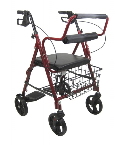 R 4602 T Two In One Rollator Transport Chair 8 Inch Wheels