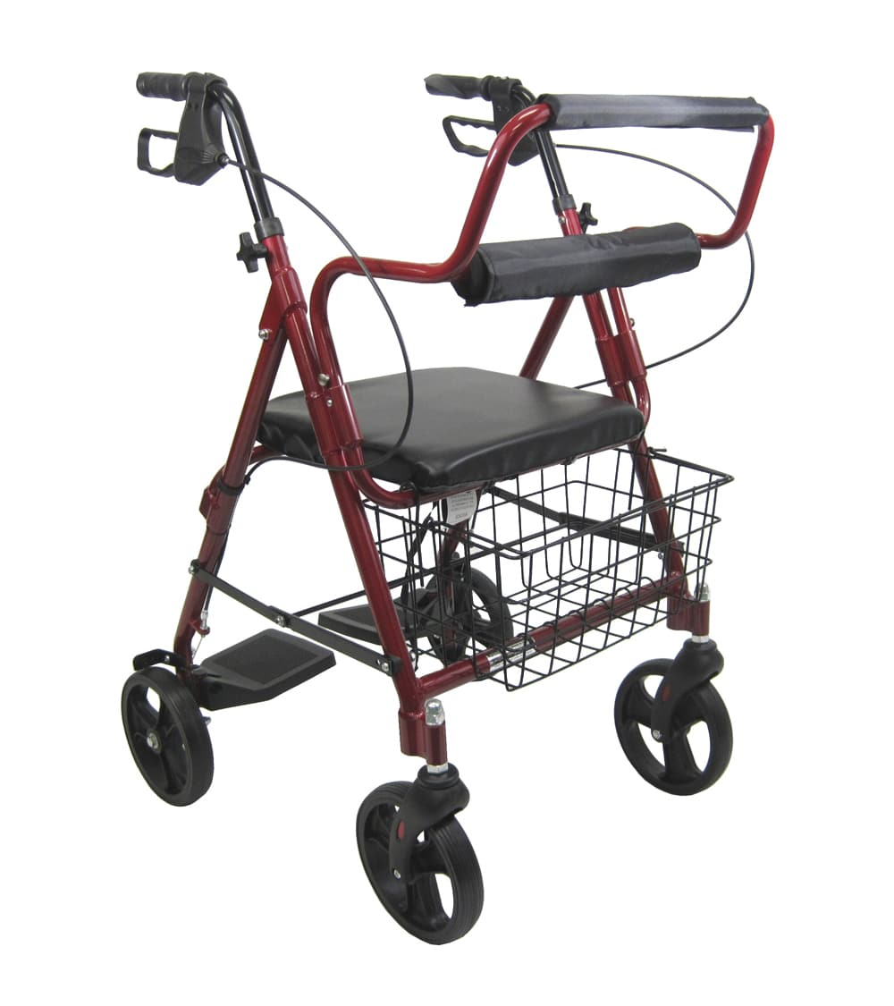 Two In One Rollator / Transport Chair 8 Inch Wheels