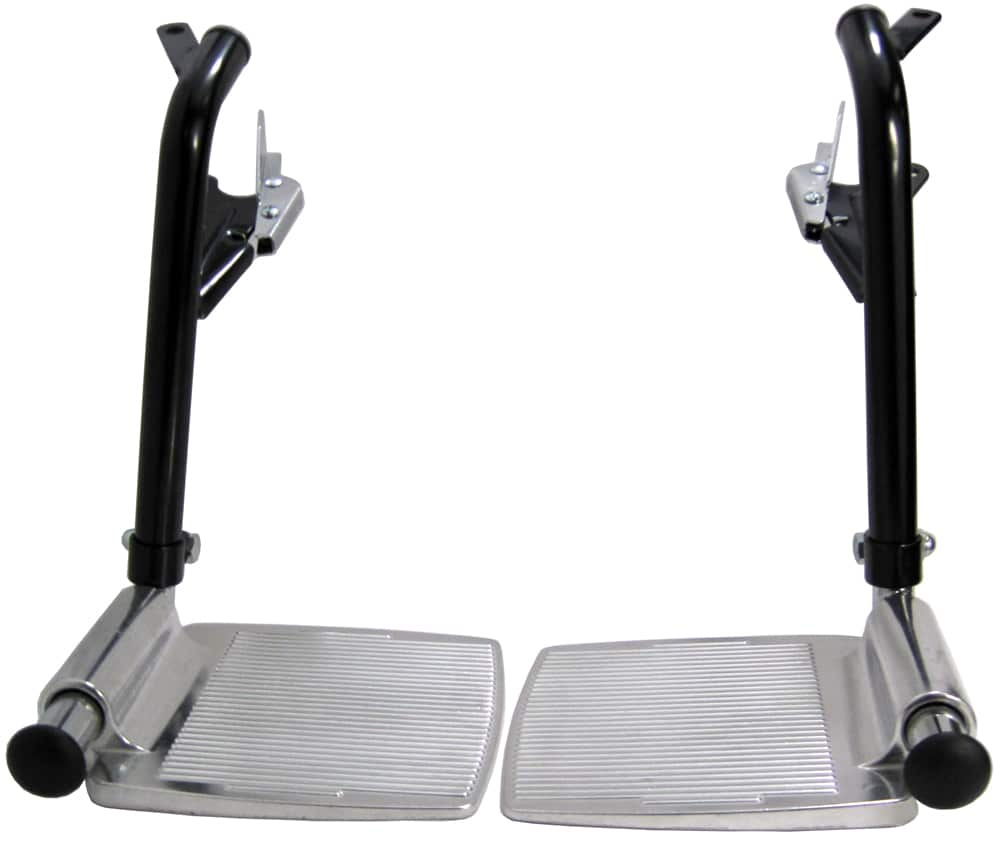 Wheelchair Footrests Silver