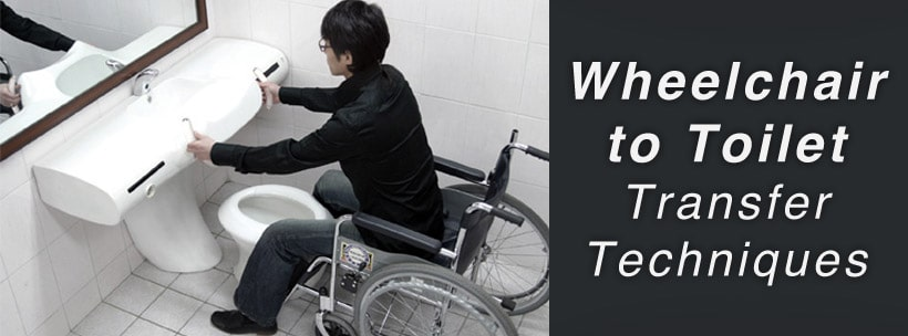 wheelchair to toilet transfer