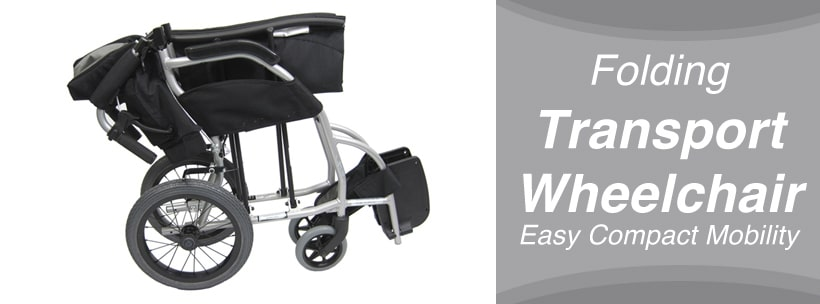 Folding Transport Wheelchair Easy Compact Mobility