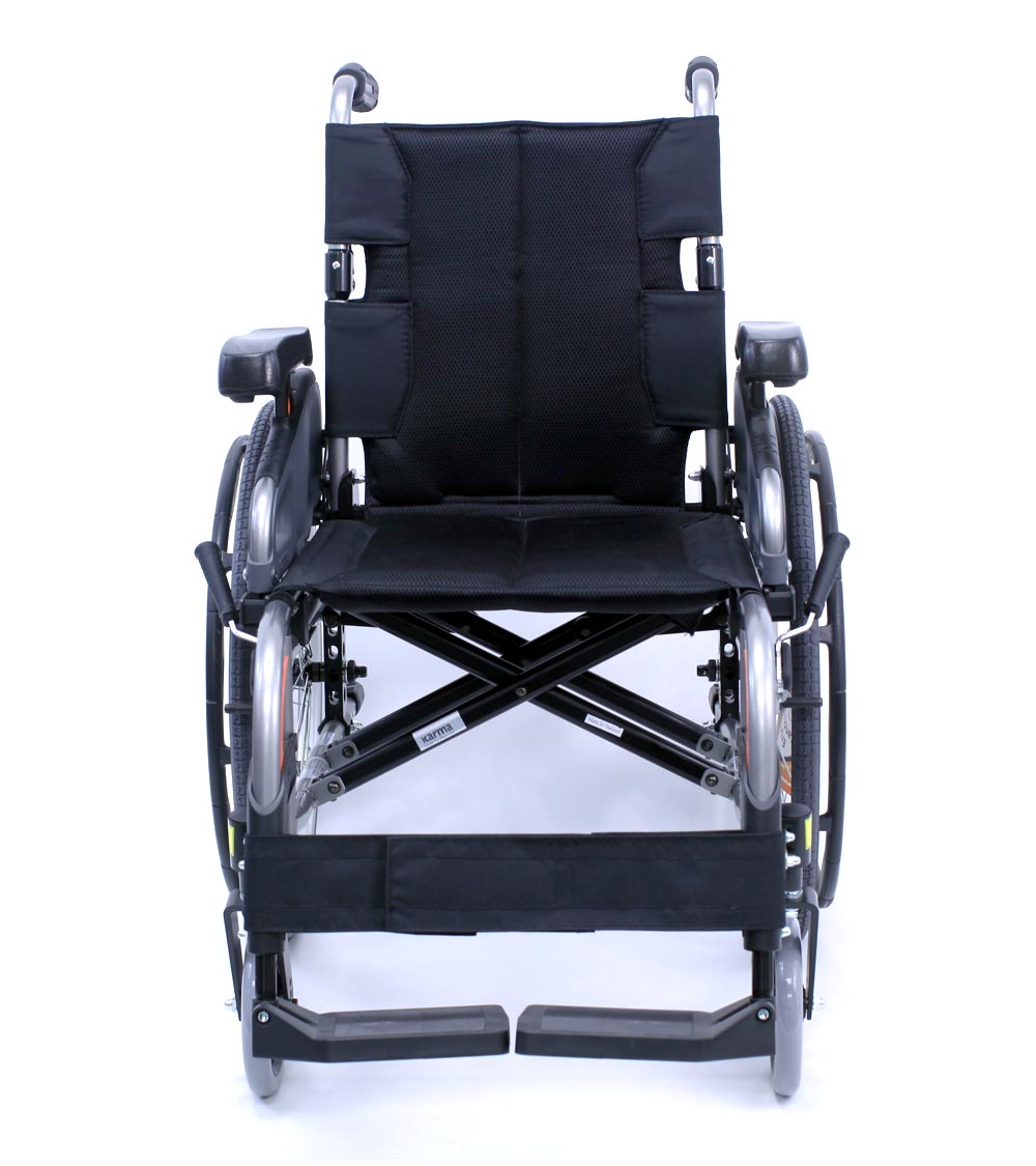 flexx adjustable wheelchair front view