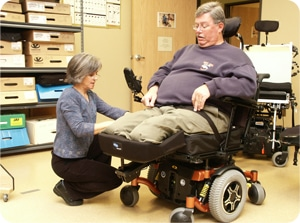 measure wheelchair for patient