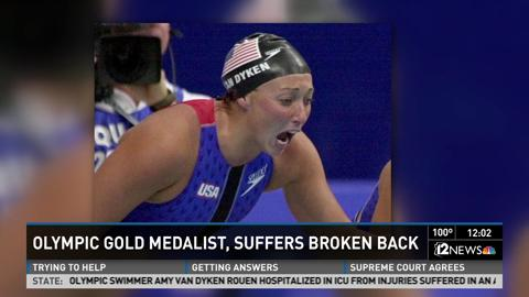 Olympian Athlete Injured Broken Spine