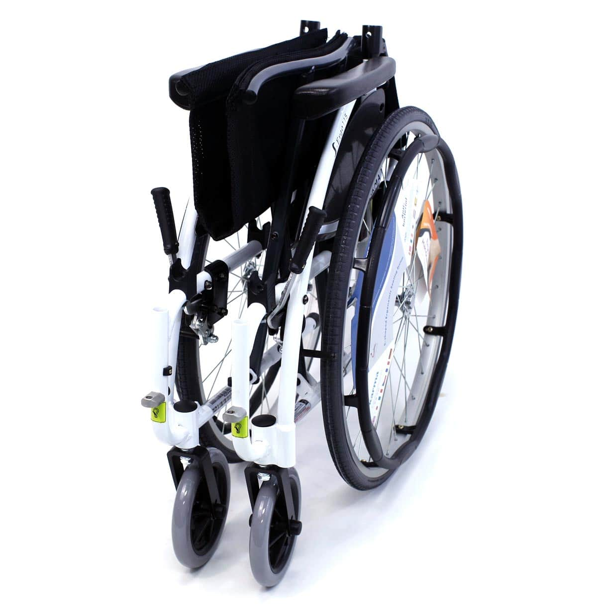 S 115 Alpine White Wheelchair Folded