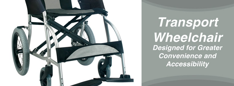Transport Wheelchair Designed for Greater Convenience and Accessibility