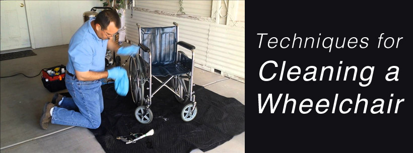 Techniques for Cleaning a Wheelchair