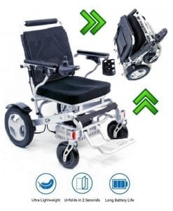 electric folding power wheelchair