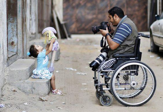 Photographer in a wheelchair