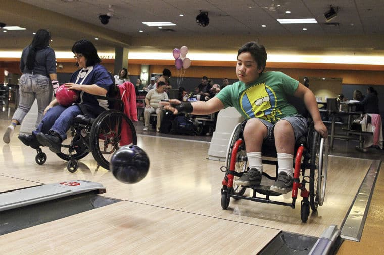 bowling in a wheelchair