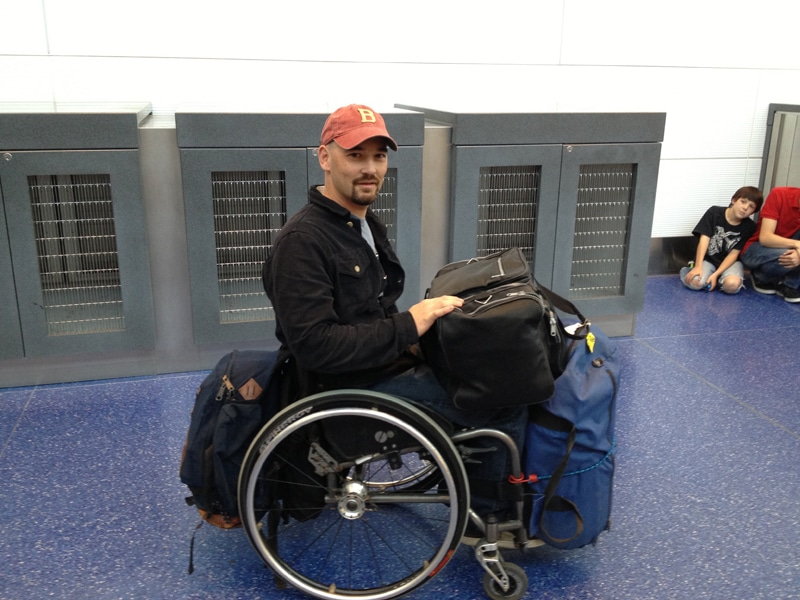 traveling in a wheelchair
